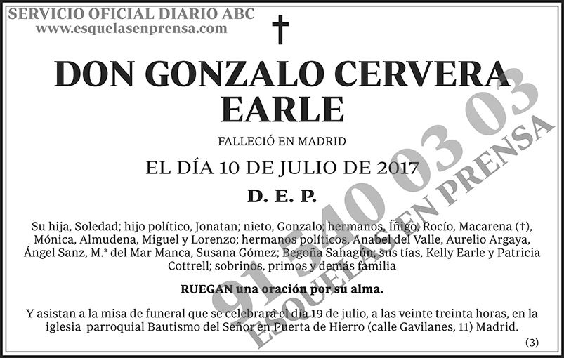 Gonzalo Cerveza Earle